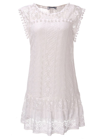 Women Sleeveless Crochet Mini Sexy Dress Lace Patchwork Dresses