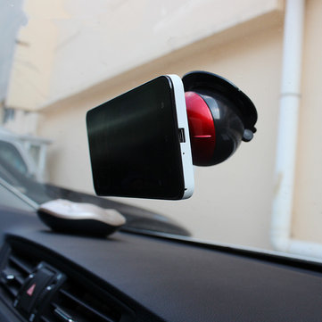 720 Degree Rotation Globe Shape Phone Holder Car Windshield Sucker Bracket Mount for iPhone Samsung