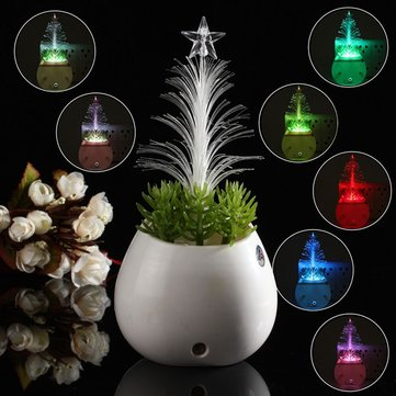 LED Sensor Night Light Christmas Tree Pot Culture 110V-240V Seven Colors Xmas