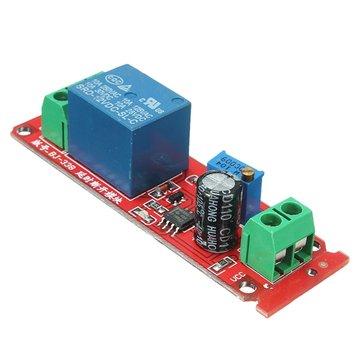 3Pcs 12V NE555 Oscillator Delay Timer Switch Module Adjustable 0-10 Second