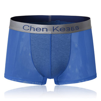 Ice Silk Sexy Translucent Breathable Soft Smooth Comfy Mens Boxer Underwear