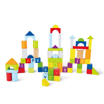 Xiaomi MITU Hape 70pcs Puzzle Building Blocks Early Education Kids Toy 26 Letters 10 Numbers Educational Toys