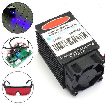 Puissant module de diode laser bleu 2W 445nm 450nm 2000mw Gravure avec lunettes de 405nm