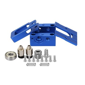Blue DIY Reprap Bulldog All-metal 1.75mm Extruder Compatible J-head MK8 Extruder Remote Proximity For 3D Printer Parts