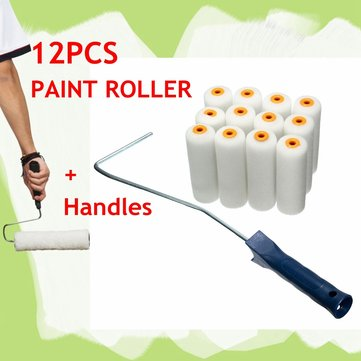 13pcs Paint Rollers DIY Decorative Handle Brush Tool Kits