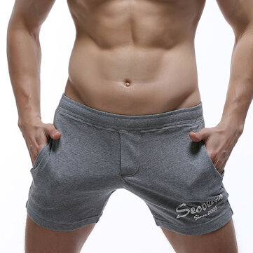 SEOBEAN Mens Pockets Arrow Shorts Home Sleepwear Casual Boxers