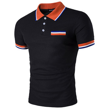 Summer Men's Fashion Cotton Blend Golf Shirt