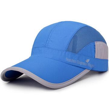 Men Women Summer Breathable Quick Dry Hat Adjustable Snapback Sun Protection Visor