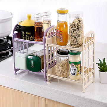 Combination Shelf Plastic Floor Living Room Kitchen Storage Rack