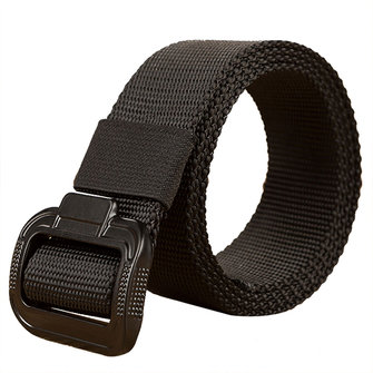 135CM Mens Alloy Buckle Nylon Belt Military Tactical Durable Buckle Pants Strip