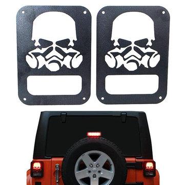 Skull Shape Car Taillight Rear Lamp Cover For Jeep Wrangler JK 2007 to 2014