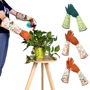 Leather Safety Work Rose Gardening Glove Women Thorn Proof Pruning Trimming Work Gloves