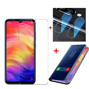 Bakeey™ Flip Protective Case + Anti-explosion Screen Protector + 2 PCS Phone Lens Film for Xiaomi Redmi Note 7 / Note 7 Pro