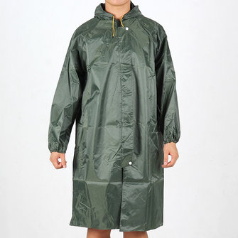Men's Outdoor Waterproof PVC Breathable Hooded Raincoat