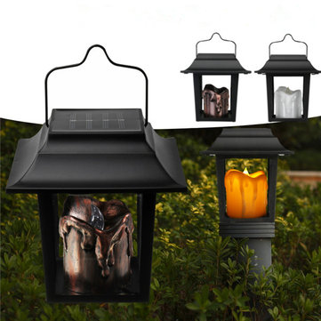 Solar Powered LED Candle Light Outdoor Garden Pathway Lawn Light Camping Hanging Lamp
