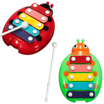 Baby Children Kids Beetle 5 Note Xylophone Musical Instrument Wisdom Smart Early Educational Development Toys