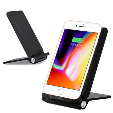 Qi Wireless Fast Charger Folding Charging Holder Stand for iPhone 8 X Samsung S6 S7 S8 Note 7