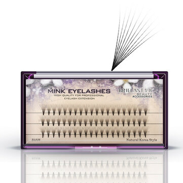 10D Black 8/9/10/12mm False Eyelash Individual Eyelashes Extension Cluster Kit Grafting Eyes Lashes