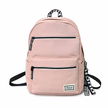 PU Backpack Waterproof Laptop Bag Camping Travel Bag Student School Bag Shoulder Bag