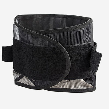 Mesh Breathable Waist Belt Steel Plate Protection Lumbar Support Belt