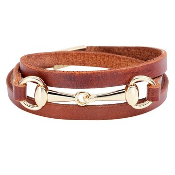 Vintage Leather Buckle Bracelet