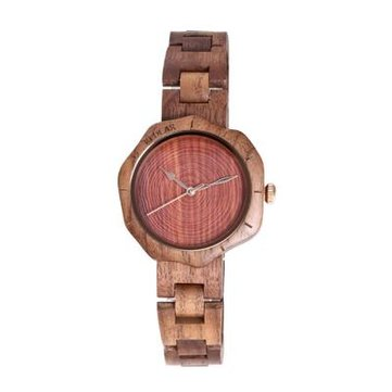 REDEAR SJ1644 Walnut Women Wrist Watch Unique Design Quartz Movement Watches