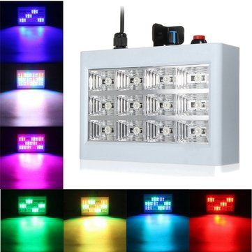 RGB 24W 12 LED Strobe Stage Light For DJ Disco Show KTV Xmas Party Wedding Club Pub