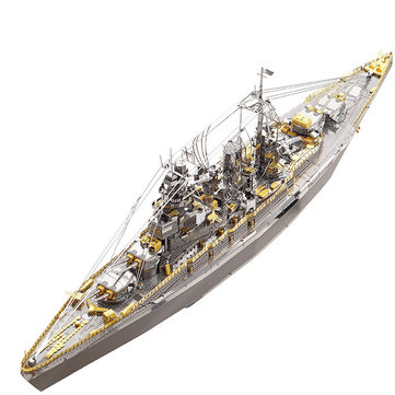 Piececool DIY Nagato Class Battleship 3D Metal Puzzle Assembly Model Puzzle Creative Toys