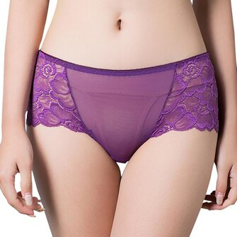 Plus Size L-3XL Sexy Lace High Waist Panties