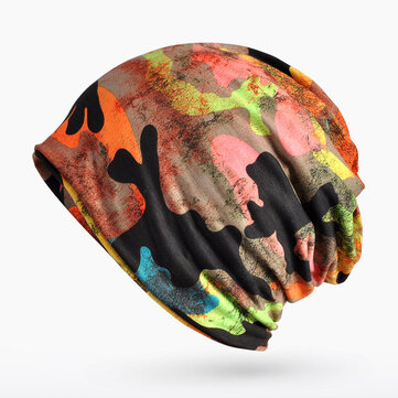 Camouflage Beanies Hat Scarf Multi-funtion Outdoor Warm Scra