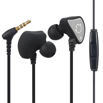 Q3 Sports Running Sweatproof In-ear Earhook Earphone Headset With Mic For Mobile Phone