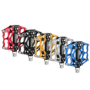 BIKIGHT Aluminum Alloy Mountain Bike Platform Pedals Flat Sealed Bearing Axle 9/16