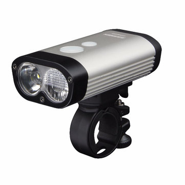 RAVEMEN PR600 2* XP-G2 600LM Bike Front Light USB Rechargeable 3 Modes and 8 Lighting Levels LED Remote