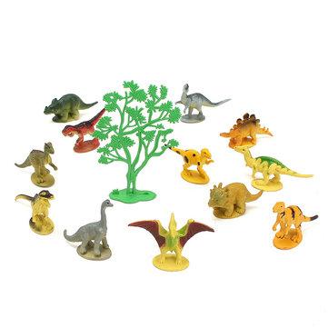 12PCS Set Mixed Dinosaur 65x15x40mm Assorted Figures Prehistoric Toys Play Set Party Gift Decor