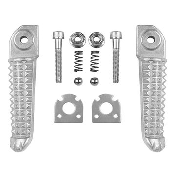 Motorcycle Rear Footrest Pedal Foot Pegs for Yamaha YZF R1 R6 R6S Silver