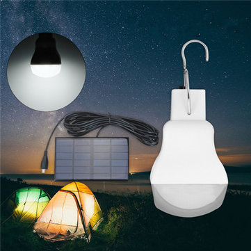 Portable Solar Powered LED Light Bulb Outdoor Emergency Tent Camping Lamp for Fishing Hiking