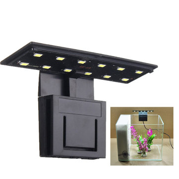 Ultra-thin 5W 12 LED Aquarium Light Clip on Plant Grow Fish Tank Lamp AC220V