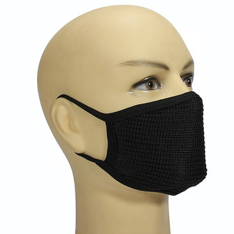 Mens Womens Dustproof Cotton Black Mouth Face Mask Health Cycling Anti Dust Face Mask Unisex