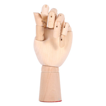 10 Inch Women Wood Modle Left Hand Artist Articulated Crafts Painting Figure Joint Flexible Decorati