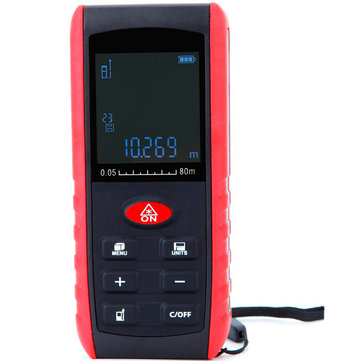 KXL-E80 80M Digital Laser Distance Meter Bubble Level Rangefinder Tape Measure Distance Area Volume Angle Measurement