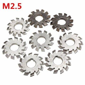 M2.5 Bore Diameter 22mm #1-8 HSS 20degree Involute Gear Milling Cutter