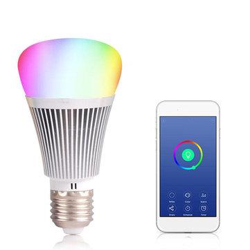 E27/B22 7W WIFI Smart Light Bulb Wireless Dimmable Remote Control RGB LED Lamp AC85-265V