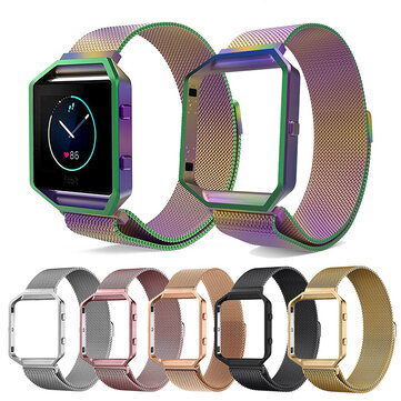 22.5mm Milanese Watch Band Frame for Fitbit Blaze Tracker