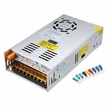 Adjustable AC 110/220V to 0-48V 10A 480W Switch Power Supply Driver LCD Display For LED Strip Light