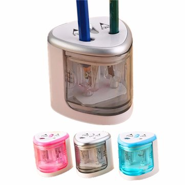 Automatic 2 Hole Electric Battery Operated Pencil Sharpener for Home School Office