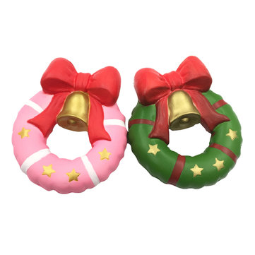 SquishyFun Christmas Jingle Bell Donut Squishy 13cm Gift Slow Rising Original Packaging Soft Decor Toy