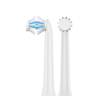 2Pcs Loskii NY Double Head Deep Clean Adult and Child Appliance Sonic Electric Toothbrush Heads