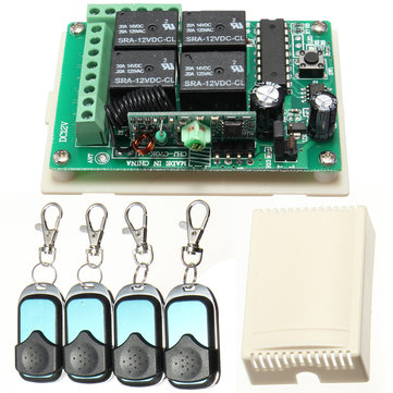 HCS301 433MHz Rolling Code Remote Controller Wireless Power Supply Relay Receiver