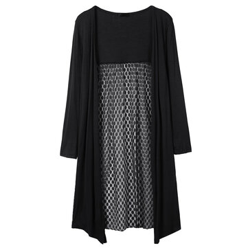 Casual Sexy Lace Patchwork Hollow Out Women Thin Cardigan