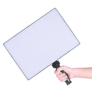 Tolifo Phantom PT-650B Slim LED Video Light Bi-color Dimmable Photo Studio Panel with Remote Control